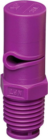XP BoomJet Lilac Acetal Polymer Boomless Flat Spray Nozzle