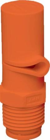 XP BoomJet Orange Acetal Polymer Boomless Flat Spray Nozzle