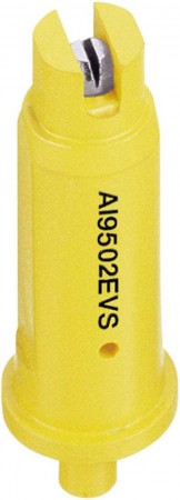 AI TeeJet Yellow Acetal-Stainless Steel Air Induction Even Flat Spray Tip Nozzle