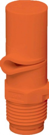 XP BoomJet Orange Acetal Polymer Boomless Flat Spray Nozzle