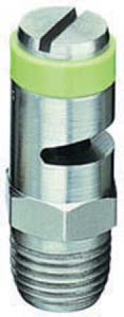 TurfJet Light Green Acetal-Stainless Steel Wide Angle Flat Fan Spray Tip Nozzle