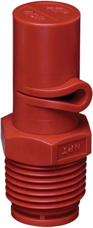 XP BoomJet Red Acetal Polymer Boomless Flat Spray Nozzle