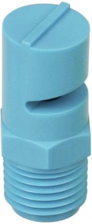 TurfJet Light Blue Acetal Polymer Wide Angle Flat Fan Spray Tip Nozzle