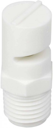 TurfJet White Acetal Polymer Wide Angle Flat Fan Spray Tip Nozzle