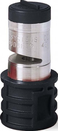 Quick Turbo FloodJet Black Acetal-Stainless Steel Wide Angle Flat Spray Tip Nozzle