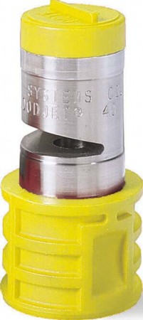 Quick Turbo FloodJet Yellow Acetal-Stainless Steel Wide Angle Flat Spray Tip Nozzle