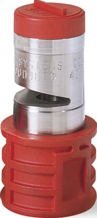Quick Turbo FloodJet Red Acetal-Stainless Steel Wide Angle Flat Spray Tip Nozzle