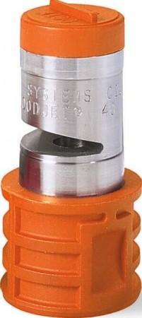 Quick Turbo FloodJet Orange Acetal-Stainless Steel Wide Angle Flat Spray Tip Nozzle