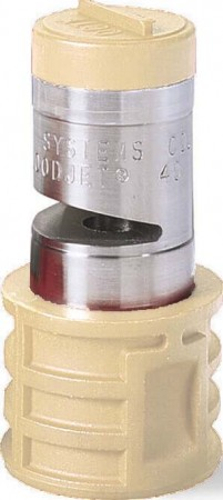 Quick Turbo FloodJet Brown Acetal-Stainless Steel Wide Angle Flat Spray Tip Nozzle