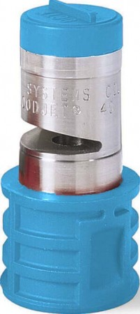 Quick Turbo FloodJet Light Blue Acetal-Stainless Steel Wide Angle Flat Spray Tip Nozzle