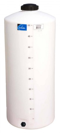 55 Gallon Plastic Vertical Storage Tank