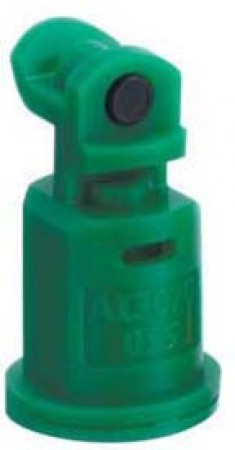AI3070 Racing Green Acetal Polymer with cap/gasket Air Induction Dual Pattern Flat Spray Tip Nozzle