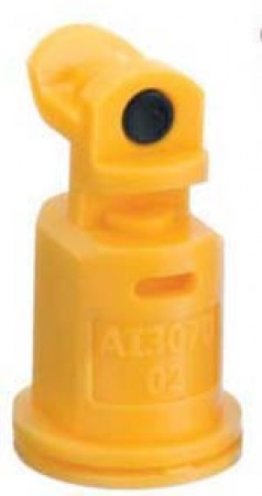 AI3070 Yellow Acetal Polymer Air Induction Dual Pattern Flat Spray Tip Nozzle