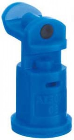 AI3070 Blue Acetal Polymer with cap/gasket Air Induction Dual Pattern Flat Spray Tip Nozzle