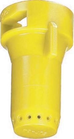 StreamJet Yellow Acetal Polymer SJ7 Fertilizer Spray Nozzle