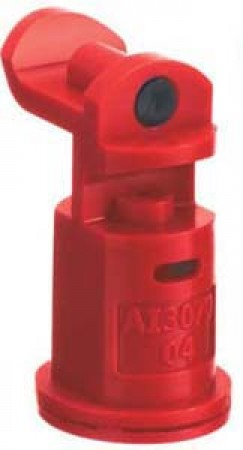 AI3070 Red Acetal Polymer with cap/gasket Air Induction Dual Pattern Flat Spray Tip Nozzle