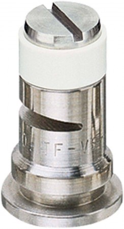 Turbo FloodJet White Acetal-Stainless Steel Wide Angle Flat Spray Tip Nozzle