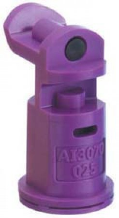AI3070 Lilac Acetal Polymer with cap/gasket Air Induction Dual Pattern Flat Spray Tip Nozzle