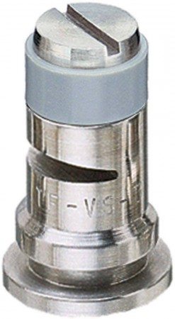 Turbo FloodJet Grey Acetal-Stainless Steel Wide Angle Flat Spray Tip Nozzle