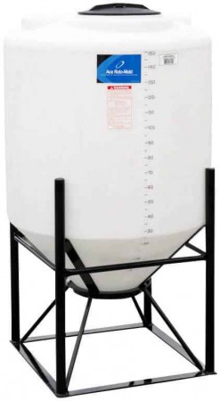150 Gallon Cone Bottom Tank w/ Stand