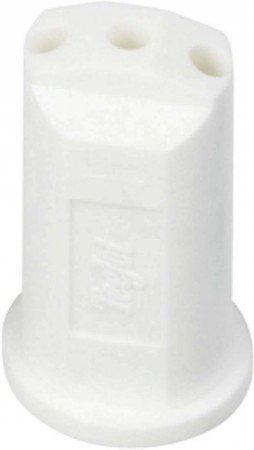 StreamJet White Acetal Polymer SJ3 Fertilizer Spray Nozzle