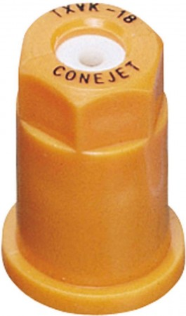 ConeJet Orange Acetal-Ceramic VisiFlo Hollow Cone Spray Tip Nozzle