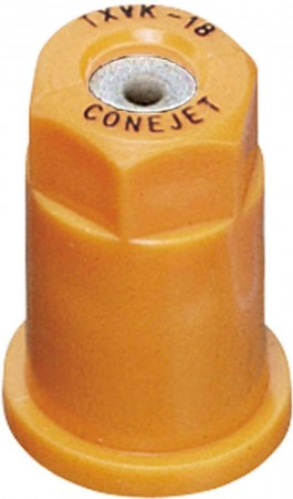 ConeJet Orange Acetal-Stainless Steel VisiFlo Hollow Cone Spray Tip Nozzle