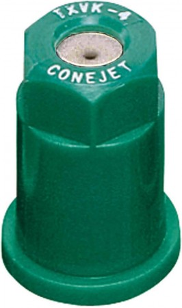 ConeJet Racing Green Acetal-Stainless Steel VisiFlo Hollow Cone Spray Tip Nozzle