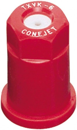 ConeJet Red Acetal-Ceramic VisiFlo Hollow Cone Spray Tip Nozzle