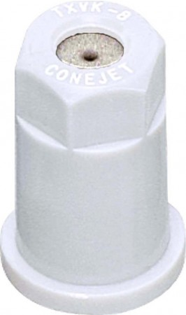 ConeJet White Acetal-Stainless Steel VisiFlo Hollow Cone Spray Tip Nozzle
