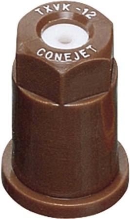 ConeJet Brown Acetal-Ceramic VisiFlo Hollow Cone Spray Tip Nozzle
