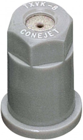 ConeJet Grey Acetal-Stainless Steel VisiFlo Hollow Cone Spray Tip Nozzle