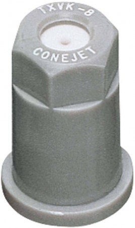 ConeJet Grey Acetal-Ceramic VisiFlo Hollow Cone Spray Tip Nozzle