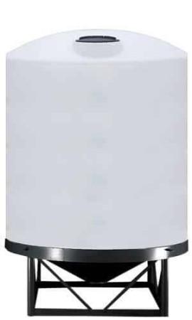 1500 Gallon Cone Bottom Tank w/ Stand