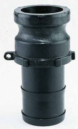 """Cam Action Adapter Fitting - 1 1/4"""" Male Adapter x 1 1/2"""" Hose Shank"""