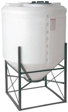 200 Gallon Cone Bottom Tank w/ Stand