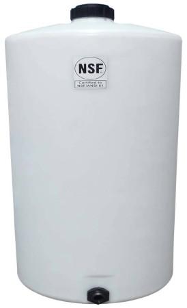 100 Gallon Plastic Vertical Storage Tank