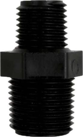"Pipe Reducer Nipple Fitting - 1/2"" MPT x 1/4"" MPT"