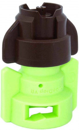 TurboDrop Gray/Lime Green Polyacetal-SS-EPDM Variable Rate Spray Nozzle