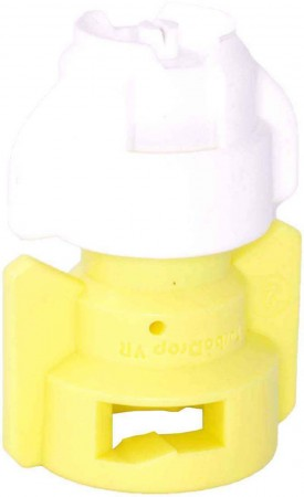 TurboDrop White/Yellow Polyacetal-SS-EPDM Variable Rate Spray Nozzle