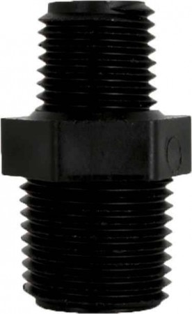 "Pipe Nipple Fitting - 11/16"" MPS x 1/4"" MPT"