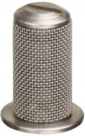 Aluminum Tip Strainer 24 Mesh with Check Valve