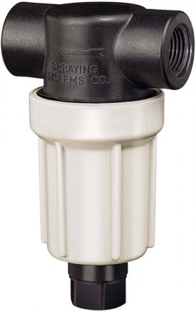 """1/2"""" FPT Poly Flush Out T-Line Strainer"""