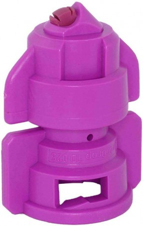 TurboDrop Pink Ceramic-Polyacetal-EPDM High Pressure Full Ceramic TwinFan Spray Nozzle