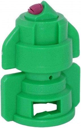TurboDrop Green Ceramic-Polyacetal-EPDM High Pressure Full Ceramic TwinFan Spray Nozzle