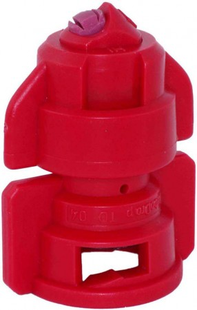 TurboDrop Red Ceramic-Polyacetal-EPDM High Pressure Full Ceramic TwinFan Spray Nozzle