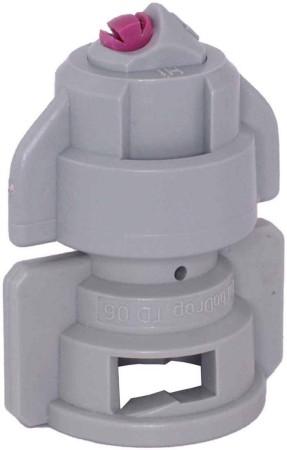 TurboDrop Gray Ceramic-Polyacetal-EPDM High Pressure Full Ceramic TwinFan Spray Nozzle