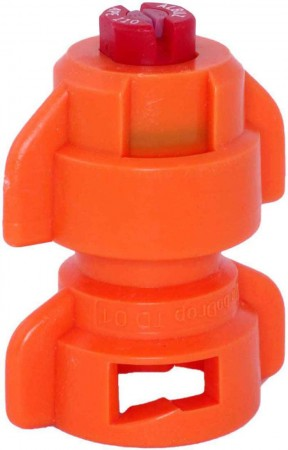 TurboDrop Orange Ceramic-Polyacetal-EPDM High Pressure Full Ceramic TwinFan Spray Nozzle