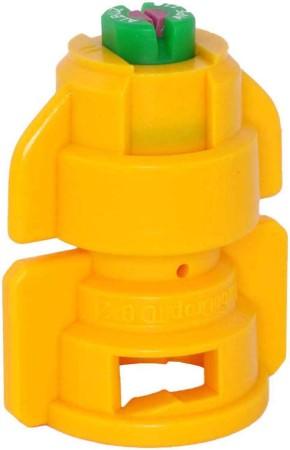 TurboDrop Yellow Ceramic-Polyacetal-EPDM High Pressure Full Ceramic TwinFan Spray Nozzle