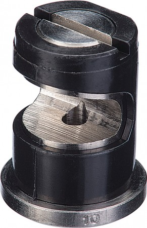 FloodJet Black Acetal-Stainless Steel Wide Angle Flat Spray Tip Nozzle